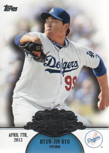 Photo of 2013 Topps Making Their Mark #MM46 Hyun-Jin Ryu