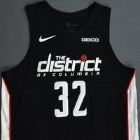 Jeff Green - Washington Wizards - 2018-19 Season - Game-Worn Black City Edition Jersey - Dressed, Did Not Play
