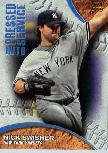 Photo of 2016 Topps Pressed Into Service #PIS10 Nick Swisher