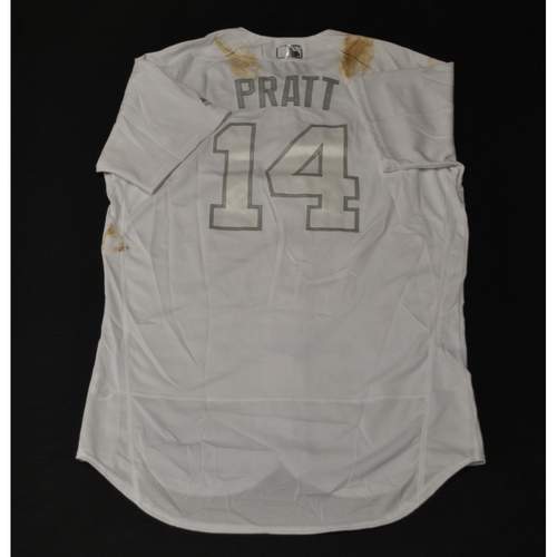 "Photo of Martin ""PRATT"" Prado Miami Marlins Game-Used 2019 Players' Weekend Jersey"