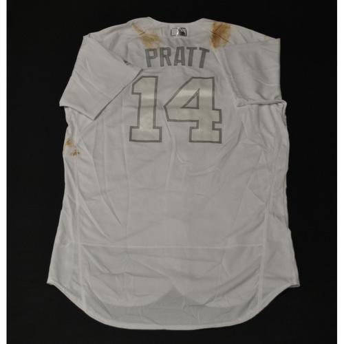 "Photo of Martin ""PRATT"" Prado Miami Marlins Game-Used 2019 Players' Weekend Jersey"