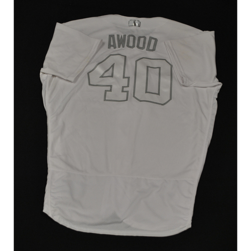 "Photo of Alex ""AWOOD"" Wood Cincinnati Reds Game-Used 2019 Players' Weekend Jersey"