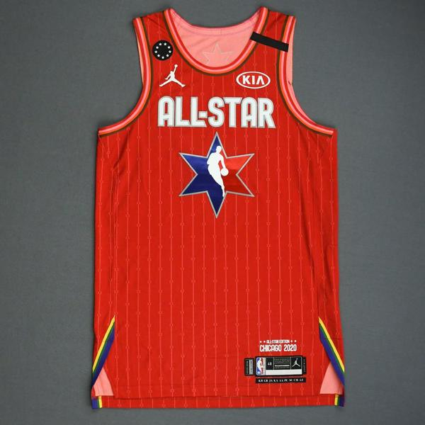 Image of Giannis Antetokounmpo - 2020 NBA All-Star - Game-Worn Jersey Charity Auction - Team Giannis - 1st and 2nd Quarter - Double-Double