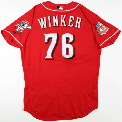 Photo of 2016 Spring Training - Spring Training Game Used Jersey - Jesse Winker (Reds)- Size- 46