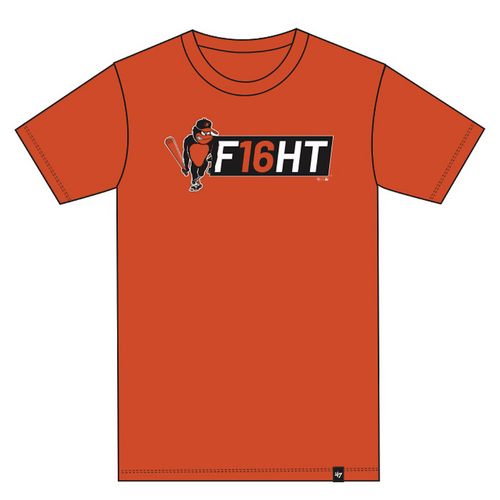 "Photo of Baltimore Orioles - Trey Mancini ""F16HT"" T-Shirt - Orange - Choose your Size!"