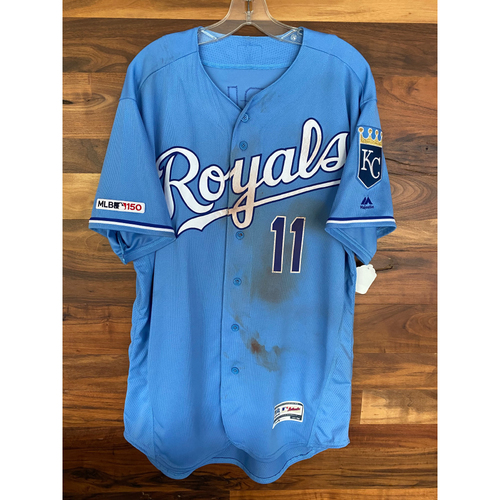 Photo of Game-Used Jersey: Bubba Starling 22nd Career Hit (Size 48 - NYM @ KC - 8/18/19)