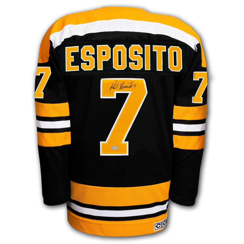 Phil Esposito Boston Bruins CCM Autographed Jersey