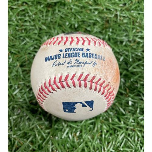 Photo of Game Used Baseball: Joey Wendle RBI single off Brad Hand - Randy Arozarena Scores - Bottom 10 - June 9, 2021 v WSH