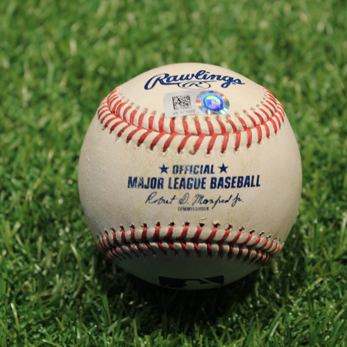 Photo of Game-Used Baseball: DJ LeMahieu 36th Career Triple (NYY@KC 8/9/21)