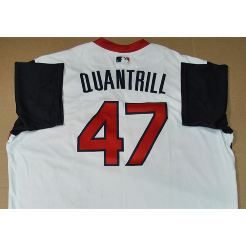 Photo of Game-used Jersey - 2021 Little League Classic - Los Angeles Angels vs. Cleveland Indians - 8/22/2021 - Great Lakes, Cal Quantrill #47