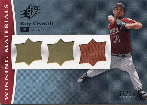 Photo of 2008 SPx Winning Materials UD Logo #RO Roy Oswalt