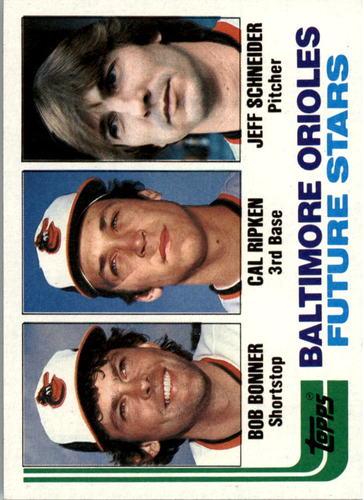 Photo of 1982 Topps #21 Bob Bonner RC/Cal Ripken RC/Jeff Schneider RC/Birthdate for Jeff Scheider is wrong