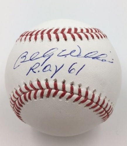 "Photo of Billy Williams ""1961 NL ROY"" Autographed Baseball"