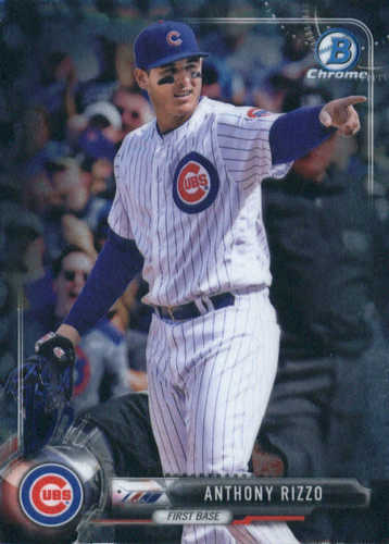 Photo of 2017 Bowman Chrome #48 Anthony Rizzo -- Cubs post-season