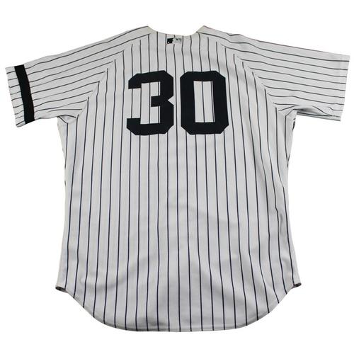 Photo of David Robertson New York Yankees Game-Used #30 Pinstripe Jersey (10/1/2017) (Size 46)