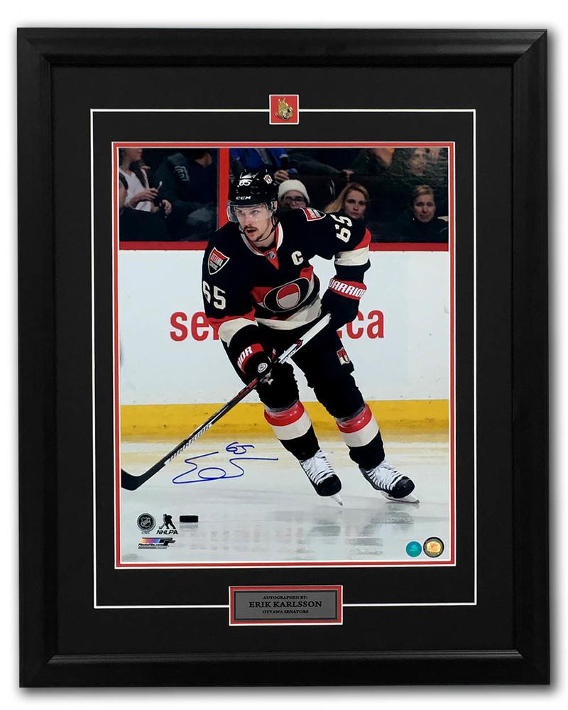 Erik Karlsson Ottawa Senators Autographed Retro Jersey Game 25x31 Frame