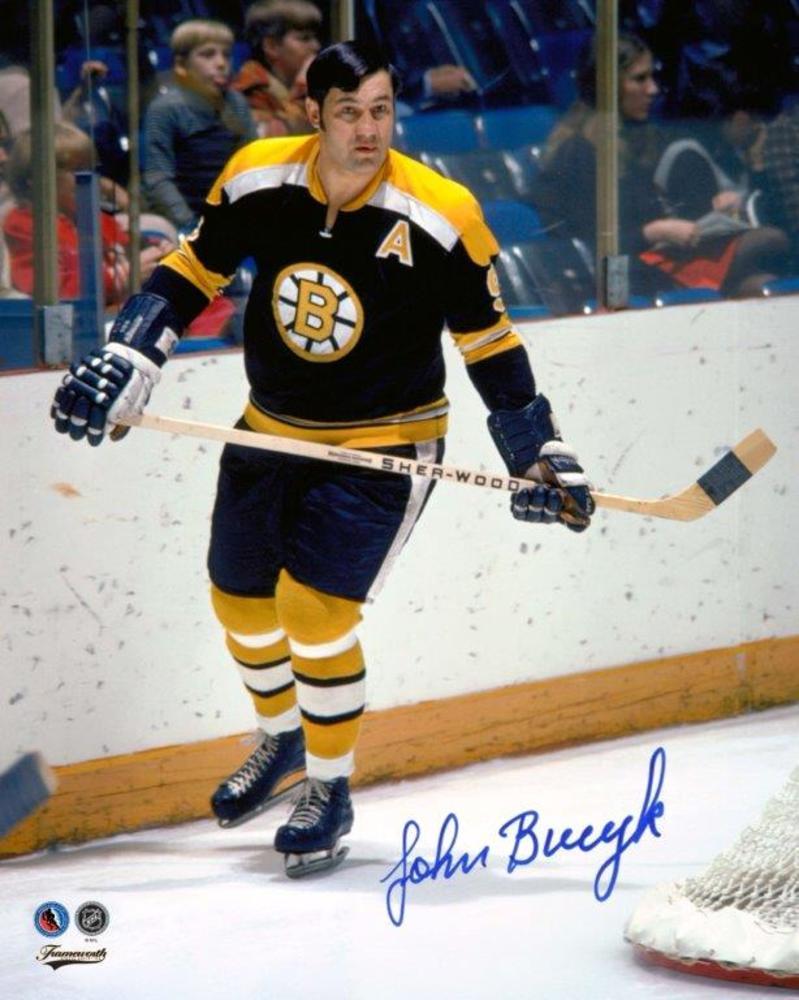 Johny Bucyk Signed 8x10 Unframed Bruins Black