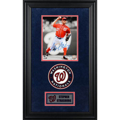 "Photo of Stephen Strasburg Washington Nationals Deluxe Framed Autographed 8"" x 10"" Photo"