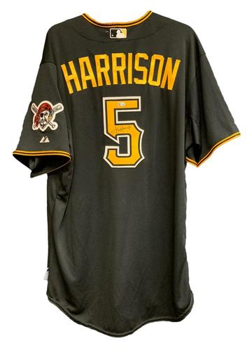 Photo of Josh Harrison Autographed Black Alternate Jersey