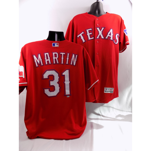 Photo of 8/7/18 - Game-Used Red Jersey - Chris Martin