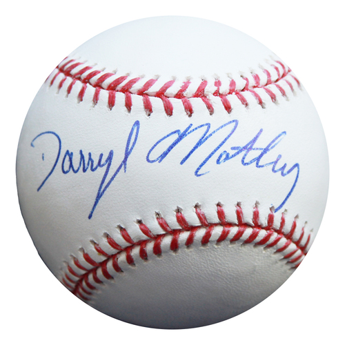 Photo of Autographed Baseball: Darryl Motley