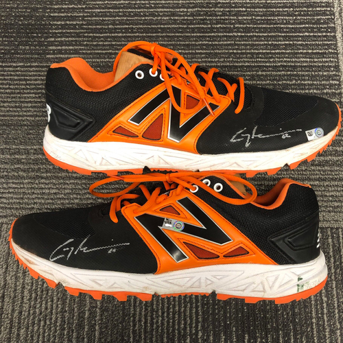 Photo of Autographed Work Out Shoes - #62 Cory Gearrin - Size 12 1/2