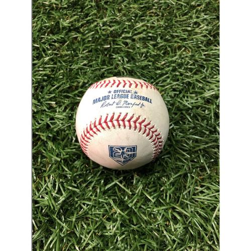 20th Anniversary Game Used Baseball: Carlos Gomez 1400th Career Game - August 7, 2018 v BAL