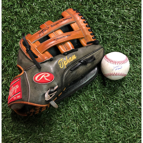 Photo of National Keratoconus Foundation Auction: Tommy Pham Autographed Baseball Glove and Autographed Game Used Baseball