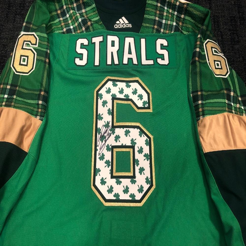 #6 Anton Stralman Tampa Bay Lightning Green Warm-Up Nickname Jersey
