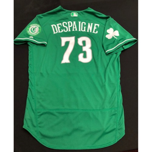 Photo of Ordisamer Despaigne -- Team-Issued Jersey -- 2019 St. Patrick's Day
