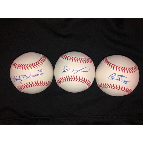 Photo of Eloy Jimenez, Charlie Tilson, Nicky Delmonico Autographed Baseballs