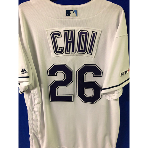 Photo of Game Used Devil Rays Jersey: Ji-Man Choi - April 20, 2019 v BOS