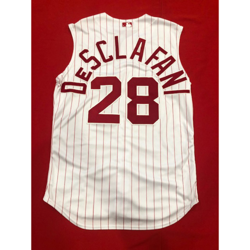 Anthony DeSclafani -- Game-Used 1995 Throwback Jersey (Starting Pitcher: 6.0 IP, 3 H, 2 ER, 3 K) -- D-backs vs. Reds on Sept. 8, 2019 -- Jersey Size 46