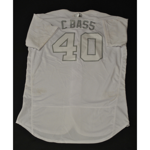 "Photo of Chris ""C BASS"" Bassitt Oakland Athletics Game-Used 2019 Players' Weekend Jersey"