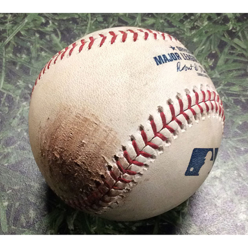 Photo of Game-Used Baseball WSH@MIL 07/24/18 - Junior Guerra - Juan Soto: Ball