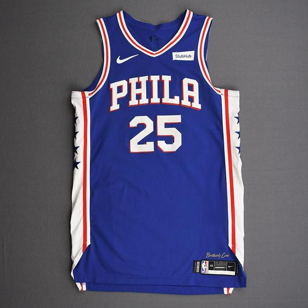 Image of Ben Simmons - Philadelphia 76ers - Kia NBA Tip-Off 2019 - Game-Worn Icon Edition Jersey