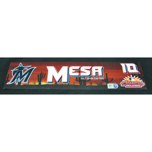 Photo of Arizona Fall League - Game-Used Locker Tag - Victor Mesa (MIA), Jersey Number: 13