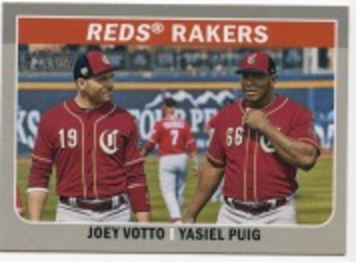 Photo of 2019 Topps Heritage Combo Cards #CC9 Joey Votto/Yasiel Puig