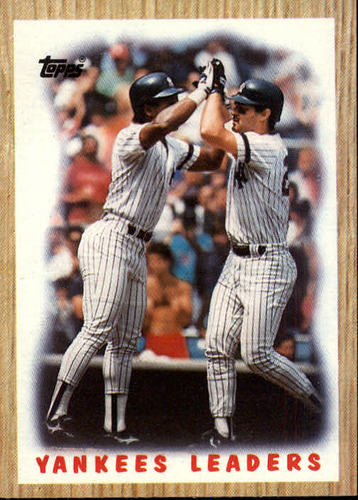 Photo of 1987 Topps #406 Yankees TL/Hend/Matt