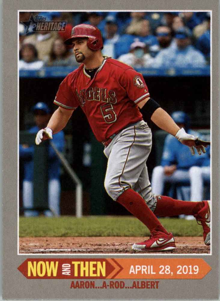 2019 Topps Heritage Now and Then #NT15 Albert Pujols
