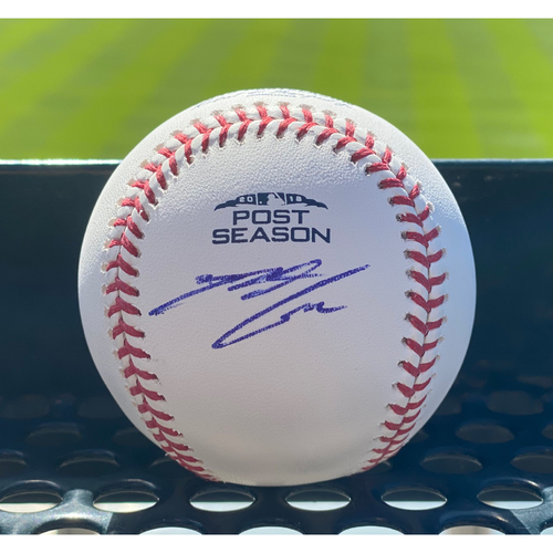 "Photo of Colorado Rockies ""2018 Postseason"" Autographed Baseball: Nolan Arenado"