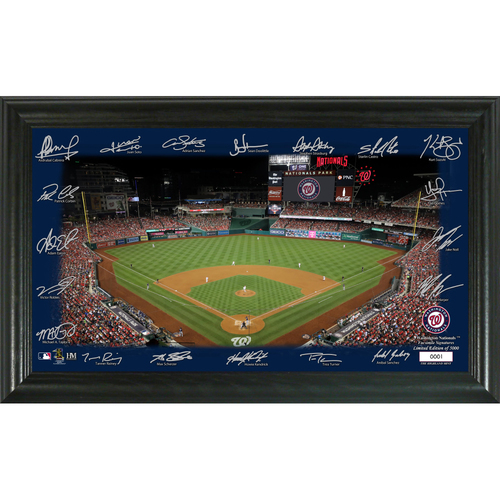 Photo of Washington Nationals 2020 Signature Field Limited Edition Frame