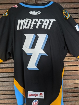 Mike Moffat Toledo Walleye Game Worn Jersey