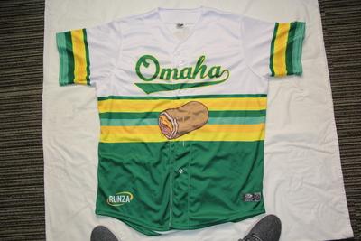 Autographed Omaha Runzas #3 Kyle Isbel Jersey