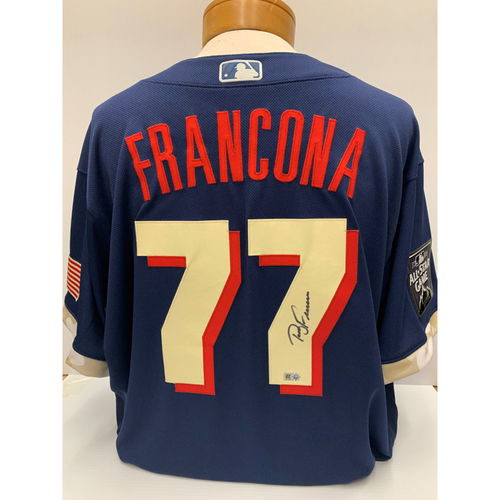 Photo of Terry Francona Autographed Team-Issued 2021 All-Star Game Jersey