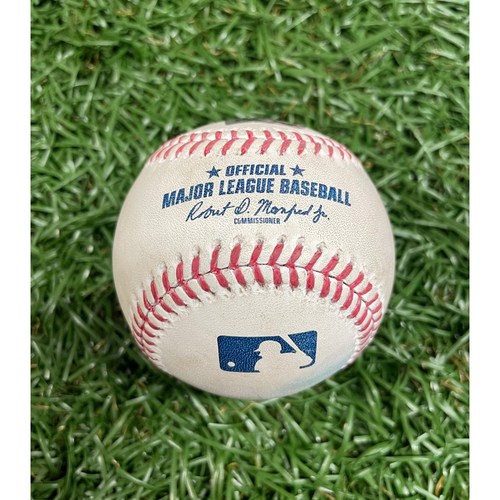 Photo of Game Used Baseball: Rich Hill strikes out Cedric Mullins - Top 1 - June 12, 2021 v BAL