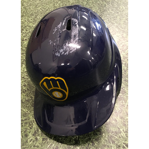 Photo of Luis Urias 2021 Game-Used Batting Helmet (09/18/21 Postseason Clinch & 09/26/21 Division Clinch Games)