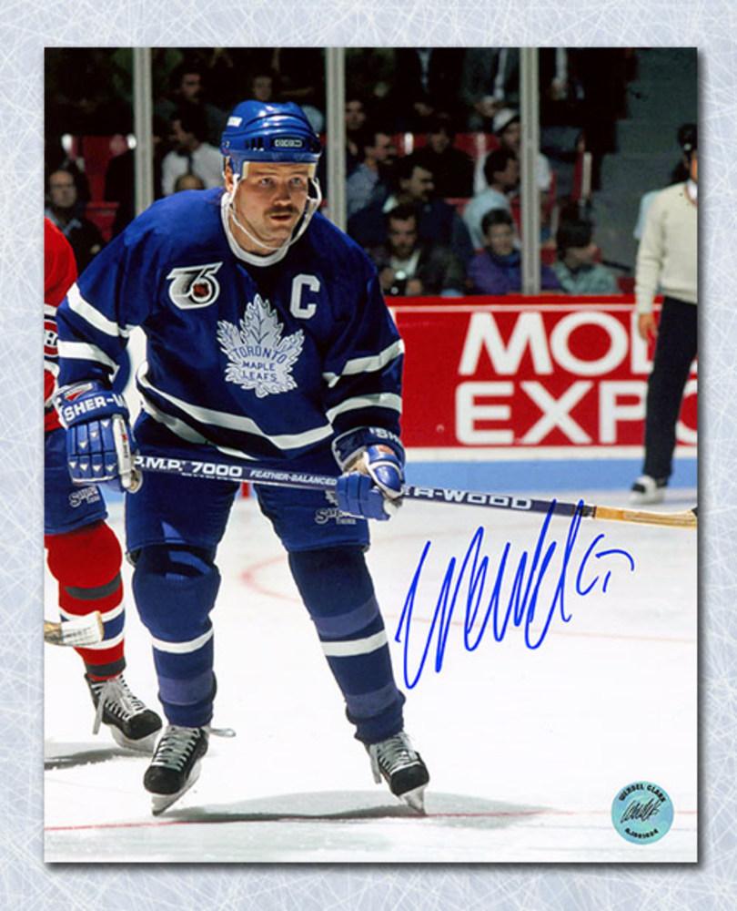 quality design a321f 74f3f Wendel Clark Toronto Maple Leafs Autographed NHL 75th Retro ...