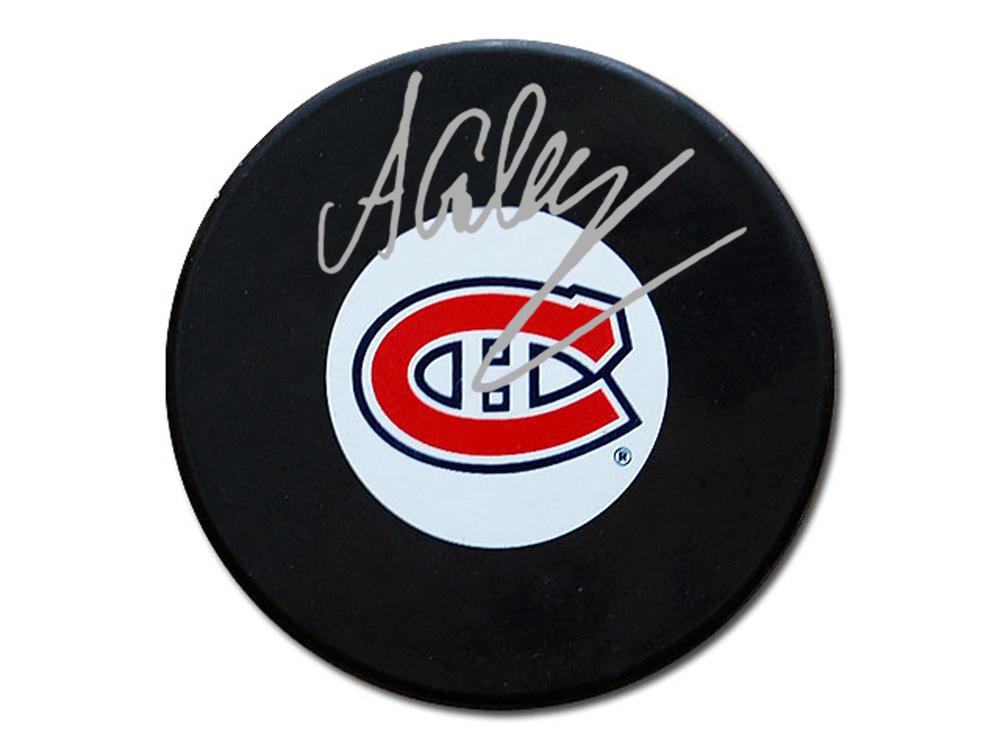 Alex Galchenyuk - Signed Montreal Canadiens Logo Puck