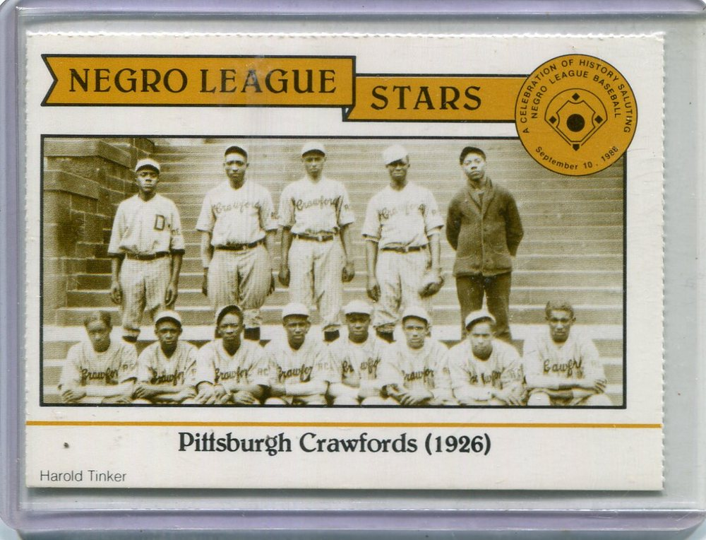 1988 Negro League Duquesne Light Co. #4 1926 Pittsburgh/Crawfords